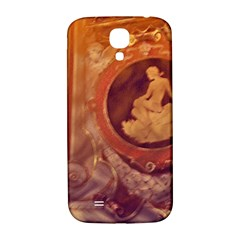Vintage Ladies Artwork Orange Samsung Galaxy S4 I9500/i9505  Hardshell Back Case