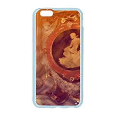 Vintage Ladies Artwork Orange Apple Seamless iPhone 6/6S Case (Color)