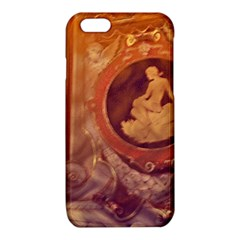 Vintage Ladies Artwork Orange iPhone 6/6S TPU Case