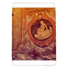Vintage Ladies Artwork Orange Flap Covers (l)