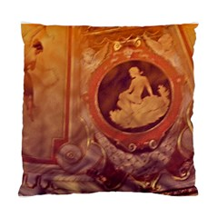 Vintage Ladies Artwork Orange Standard Cushion Case (One Side)