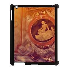 Vintage Ladies Artwork Orange Apple Ipad 3/4 Case (black)