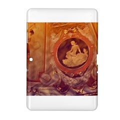 Vintage Ladies Artwork Orange Samsung Galaxy Tab 2 (10.1 ) P5100 Hardshell Case