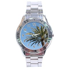 Tropical Palm Tree  Stainless Steel Analogue Watch