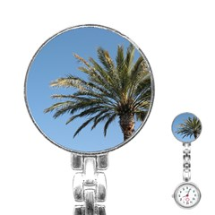 Tropical Palm Tree  Stainless Steel Nurses Watch