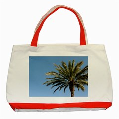 Tropical Palm Tree  Classic Tote Bag (red)