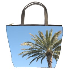 Tropical Palm Tree  Bucket Bags