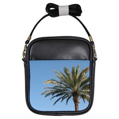 Tropical Palm Tree  Girls Sling Bags