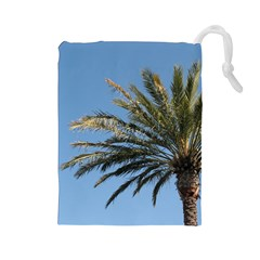 Tropical Palm Tree  Drawstring Pouches (large)