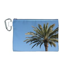 Tropical Palm Tree  Canvas Cosmetic Bag (M)