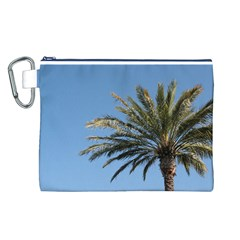 Tropical Palm Tree  Canvas Cosmetic Bag (l)