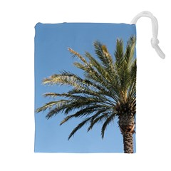 Tropical Palm Tree  Drawstring Pouches (extra Large)