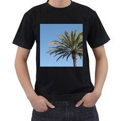 Tropical Palm Tree  Men s T Shirt (black) (two Sided)