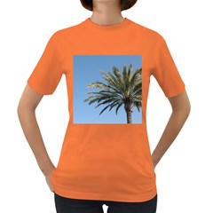 Tropical Palm Tree  Women s Dark T Shirt