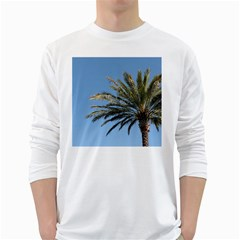 Tropical Palm Tree  White Long Sleeve T Shirts
