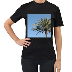 Tropical Palm Tree  Women s T Shirt (black)