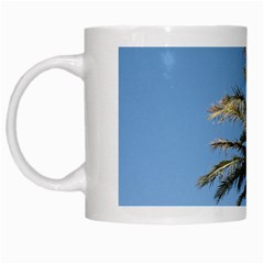 Tropical Palm Tree  White Mugs