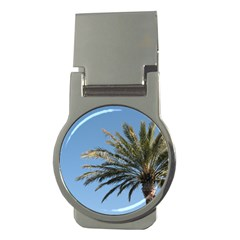Tropical Palm Tree  Money Clips (round)
