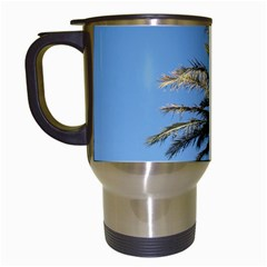 Tropical Palm Tree  Travel Mugs (White)