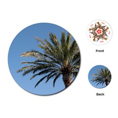 Tropical Palm Tree  Playing Cards (round)