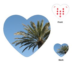 Tropical Palm Tree  Playing Cards (Heart)