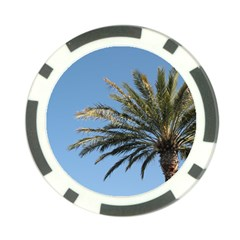 Tropical Palm Tree  Poker Chip Card Guards (10 pack)