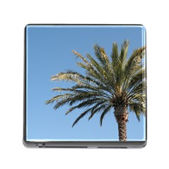 Tropical Palm Tree  Memory Card Reader (Square)