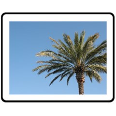 Tropical Palm Tree  Fleece Blanket (medium)