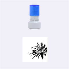Tropical Palm Tree  Rubber Round Stamps (small)