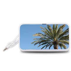 Tropical Palm Tree  Portable Speaker (white)