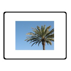 Tropical Palm Tree  Double Sided Fleece Blanket (Small)