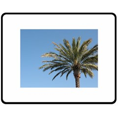 Tropical Palm Tree  Double Sided Fleece Blanket (medium)