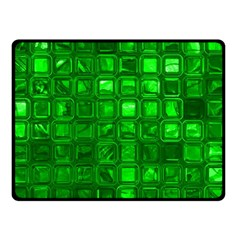 Glossy Tiles,green Double Sided Fleece Blanket (small)