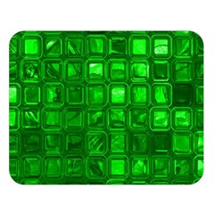 Glossy Tiles,green Double Sided Flano Blanket (large)