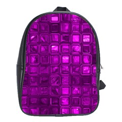 Glossy Tiles,purple School Bags (xl)