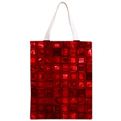 Glossy Tiles,red Classic Light Tote Bag