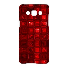 Glossy Tiles,red Samsung Galaxy A5 Hardshell Case