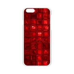 Glossy Tiles,red Apple Seamless iPhone 6/6S Case (Transparent)