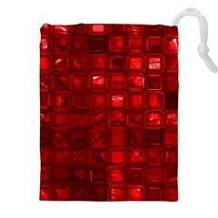 Glossy Tiles,red Drawstring Pouches (XXL)