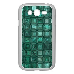 Glossy Tiles,teal Samsung Galaxy Grand Duos I9082 Case (white)