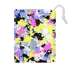 Abstract Drawstring Pouches (Extra Large)