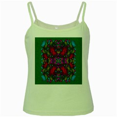 May Your Wonderful Dreams Come True In Fauna   Green Spaghetti Tank