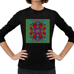 May Your Wonderful Dreams Come True In Fauna   Women s Long Sleeve Dark T-Shirts