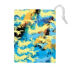 Abstract #4 Drawstring Pouches (Extra Large)