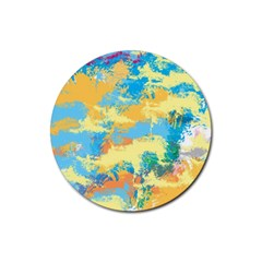 Abstract #5 Rubber Coaster (round)