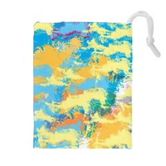 Abstract #5 Drawstring Pouches (Extra Large)