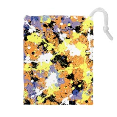 Abstract #10 Drawstring Pouches (extra Large)