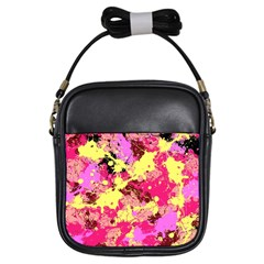 Abstract #11 Girls Sling Bags