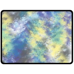 Abstract #17 Double Sided Fleece Blanket (large)