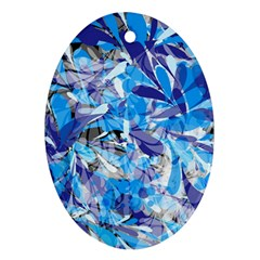 Abstract Floral Oval Ornament (two Sides)